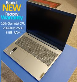 "Laptop 15.6"" Lenovo- Brand New with Warranty - Full HD - 256gb M.2 SSD - 8gb Ram for Sale in Portland,  OR"