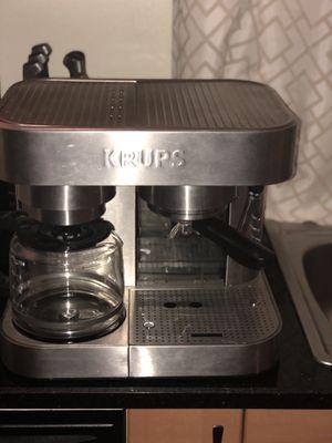 Krups XP604050 Combi Espresso Machine and 10-Cup Coffee Maker for Sale in Orlando, FL