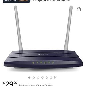 TP-Link Router AC1200 Archer A5 Dual Band Wireless Roiter for Sale in San Diego, CA