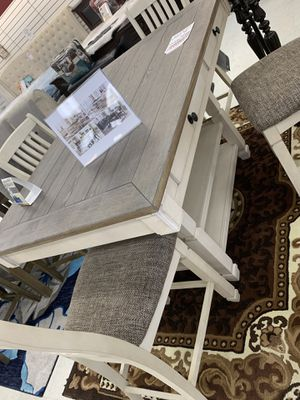 Table w/ 4 chairs, bench, storage shelving, and 4 storage drawers for Sale in Greensboro, NC