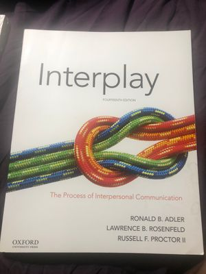 Interplay (14th Edition) The Process of Interpersonal Communication for Sale in La Verne, CA