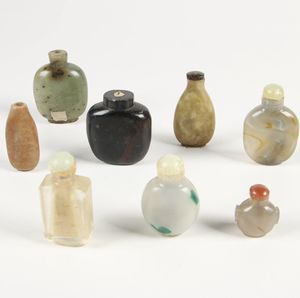 groups Qing Dynasty (1644一1911)antique Glass, jade ,Agate snuff bottles!8 pc for Sale in Chicago, IL
