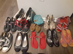 Size 9 women's shoes. Snow boots, cowgirl boots, heels, sandals & converse. for Sale in Broomfield, CO