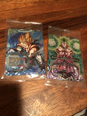 Gogeta Broly Dragon ball z movie theater exclusive TCG cards for Sale in Anaheim, CA