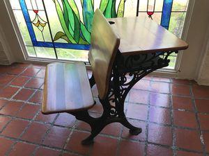 Antique wrought iron school desk for Sale in Miami, FL
