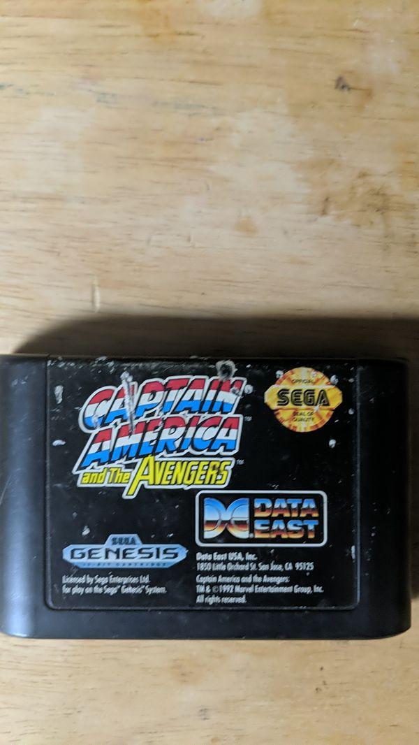 Captain America and The avengers Sega Genesis game