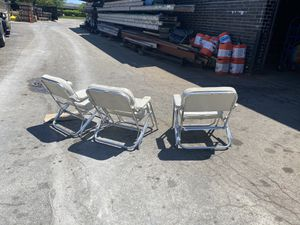 Boat chairs. High quality comfortable. Aluminum and vinyl designed for the sea. for Sale in Morton Grove, IL