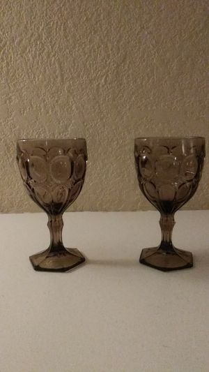 2 BEAUTIFUL LIGHT PURPLE GLASS GOBLETS for Sale in San Bernardino, CA