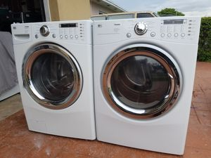 LG WASHER AND ELECTRIC DRYER SUPERCAPACITY for Sale in Hialeah, FL