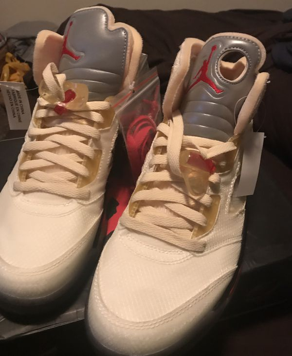 Jordan 5 off white sail brand new 10.5 $400