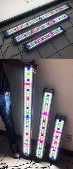 "New Aquarium LED Fish Tank Light 3 Sizes: ($35 for 24""-30""), ($45 for 36""-43"") and ($50 for 45""-50"") for Sale in Whittier, CA"