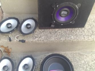 speaker lot subs etc for Sale in Attleboro,  MA