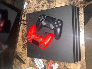 PS4 PRO WITH 2 CONTROLLERS for Sale in Bedford Heights, OH