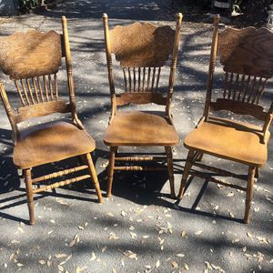 3 Wooden Chairs for Sale in Pasadena, CA