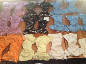 19 Thirsties All-in-One AIO Cloth Diapers Size Two Snaps for Sale in Olympia, WA
