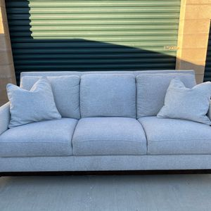 Beautiful Upholstered Sofa Couch With Three Seats And Throw Pillows for Sale in Bellflower, CA