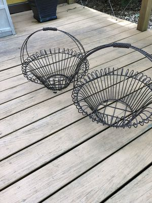 2 Handcrafted Plant Baskets for Sale in Atlanta, GA