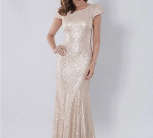 Rose Gold Prom Bridesmaid Formal Sequin Dress for Sale in Bethel, CT
