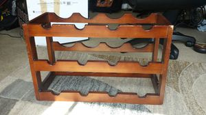 Vintage Hand Carved Wine/Bottle Rack for Sale in Fairfax, VA