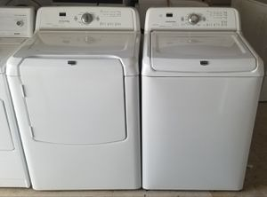 nice and clean washer and electric dryer super capacity for Sale in Lathrop, CA
