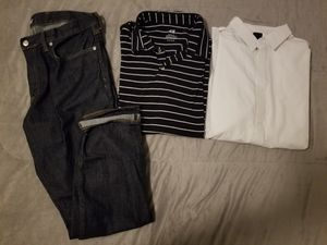 Bundle Men Clothes XL shirts and 36/30 Pants for Sale in Whittier, CA