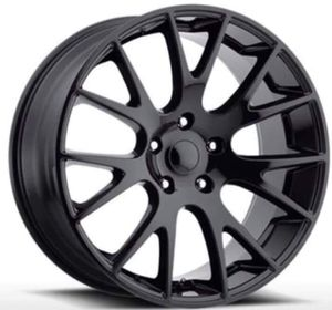 "22"" DODGE HELLCAT Rims Package New Replica Wheels & Tires ANY FINISH • Machine Black • Gloss Black • Matte Black <<<Rims & Tires Only $1299>>> for Sale in Huntington Beach, CA"