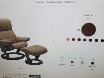 Ekornes Stressless Adj. Camel Leather Chair. >$1000 New for Sale in Seattle,  WA