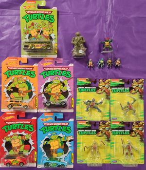 Turtles cars, packed figures, loose, bubble gum pack for Sale in Glendale, AZ