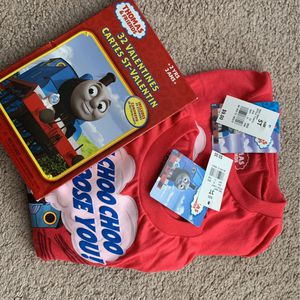 Brand New Thomas the Train Valentine's Day Shirt Plus Valentine's for Sale in Henderson, NV