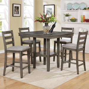 """Brand new 42"""" x 42"""" gray pub high storage dining set for Sale in San Diego, CA"""