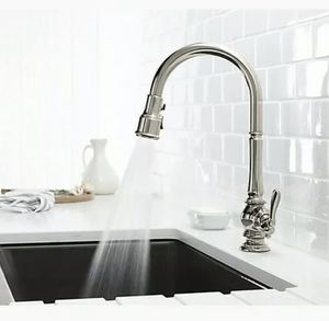 Kohler K-99259-CP Artifacts Single-Hole Kitchen Sink Faucet - Polished Chrome for Sale in Lake Bluff, IL