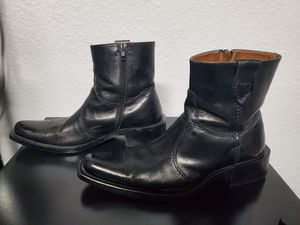 Men's Aldo Black leather boots Size 9 for Sale in Cutler Bay, FL