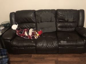Free couch and reclining chair for Sale in Midway, GA