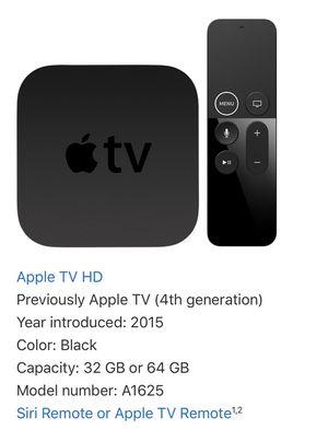 32gb Apple TV HD (4th Generation) for Sale in Las Vegas, NV