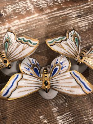 Butterflies German porcelain hand painted antique for Sale in Auburn, WA