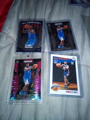 Zion Williamson RC cards in perfect condition for Sale in Greenville, SC