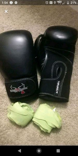Kickboxing gloves with wrist wraps for Sale in Alexandria, VA
