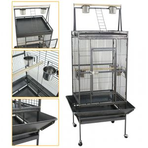 68 Inch Bird Parrot Chinchillas Ferret Cage Cockatiel House w/Stand Metal Wheel for Sale in Wildomar, CA