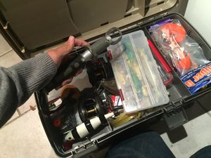 Loaded fishing tackle box for Sale in Chicago, IL