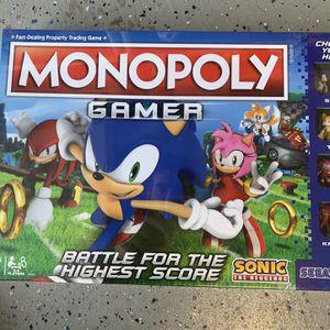 Monopoly Gamer: Sonic the Hedgehog Edition Battle For The Highest Score SEGA brand new for Sale in Corona, CA