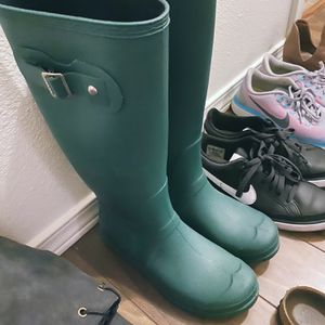 Womens Green Rubber Rain Boots for Sale in Portland, OR