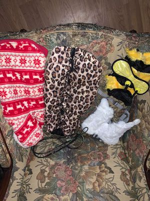 Small Dog coats and costumes take all $15 for Sale in Lisle, NY