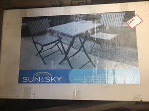 Patio folding chair and table set for Sale in Alhambra, CA