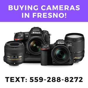 Buying dslr cameras and camera gear in fresno, text me for Sale in Fresno, CA