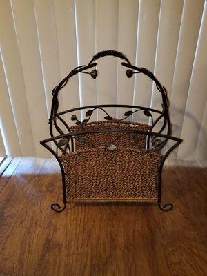 Nice magazine rack holder basket for Sale in Garland, TX