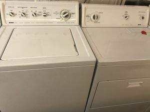 Used kenmore heavy duty washer and dryer set. 1 year warranty for Sale in St. Petersburg, FL