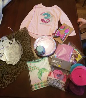 Mermaid Party Supplies with Shirt for Sale in Suwanee, GA