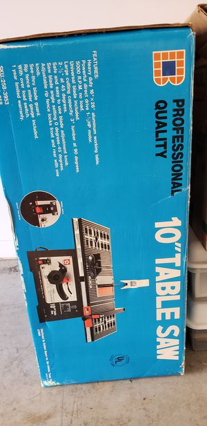 """Table Saw 10"""" - Gentle Used for Sale in Portland, OR"""