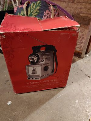 Tv lantern radio new in box bix is torn camping for Sale in Chicago, IL