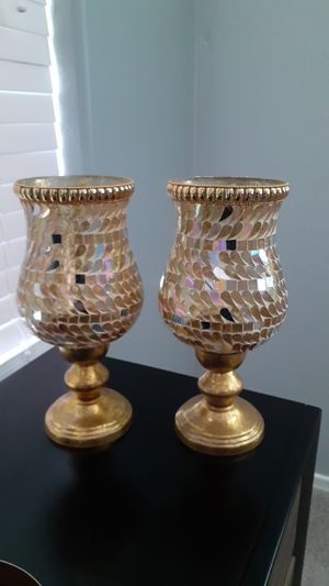 $18 for 2 beautiful gold candle holders for Sale in Tolleson, AZ